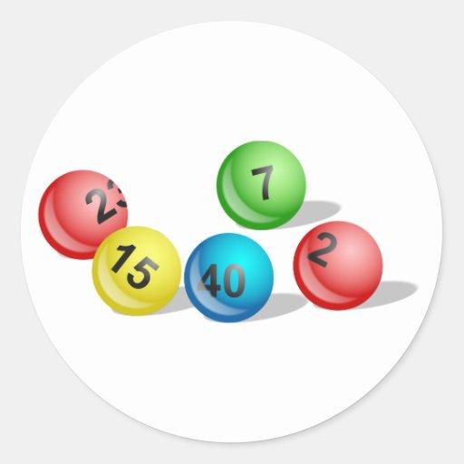 Lotterie-Bälle Stickers