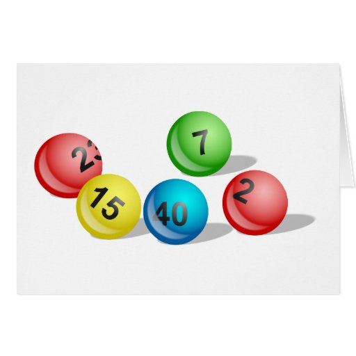 Lotterie-Bälle Grußkarten