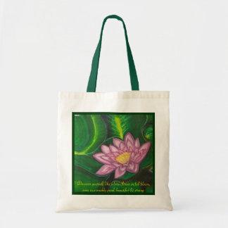 Lotus-Blüte (Lilien-Auflage) Budget Stoffbeutel