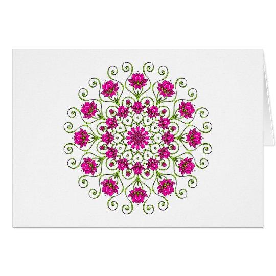 Lotus Blüte Mandala Karte
