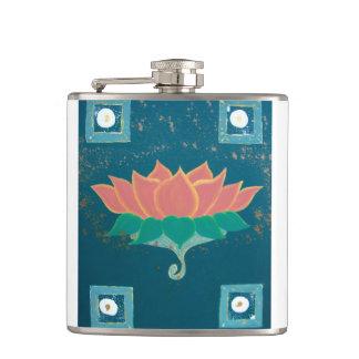 Lotus, das Druckflasche malt Flachmann