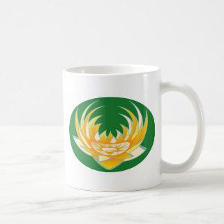 LOTUS-Flamme in der grünen Basis Kaffeetasse