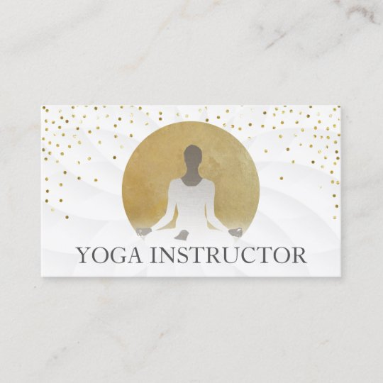 Lotus Floral Gold Circle Heilung Yoga Therapie Visitenkarte