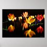 Lotus formte Laternen für mittleres Herbstfestival Plakate