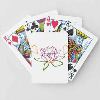 Lotus-Herz Bicycle Spielkarten