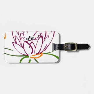 Lotus-Herz Gepäckanhänger