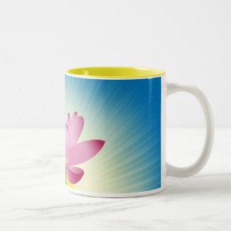 Lotus im Sonnenaufgang Tassen