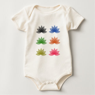 Lotus in den verschiedenen Farben Baby Strampler