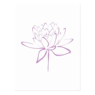 Lotus-Kalligraphie (Lavendel) Postkarte
