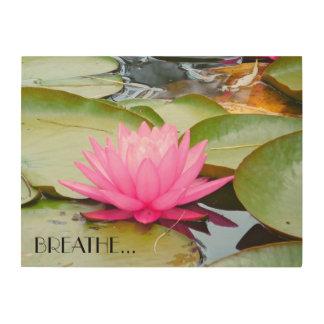 Lotus-Kunst… Holzwanddeko