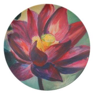 Lotus-Kunst-Malerei-Melamin-Platte Melaminteller