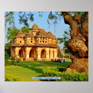 Lotus Mahal, Vijayanagara, Indien Poster