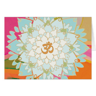 Lotus-Mandala-Gruß-Karte Karte