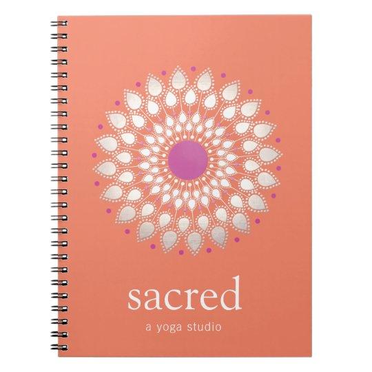 Lotus-Mandalanatürlicher Gesundheits-u. Spiral Notizbuch