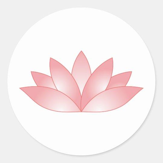 Lotus Runder Aufkleber