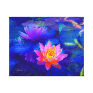 Lotus-Teich Leinwanddruck