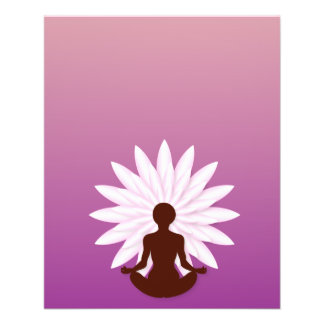 Lotus und Yoga 11,4 X 14,2 Cm Flyer