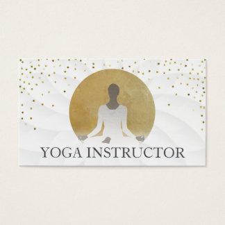 Lotusblumengoldkreis-heilende Yoga-Therapie Visitenkarte