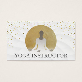 Lotusblumengoldkreis-heilende Yoga-Therapie Visitenkarten