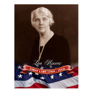 Lou Hoover, First Lady der US Postkarte