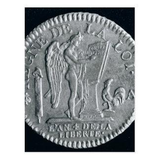 Louis d'or von der Herrschaft von Louis XVI, Gold Postkarte