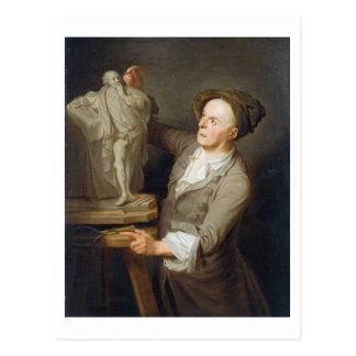 Louis-Francois Roubiliac (1695-1762) seins Postkarte