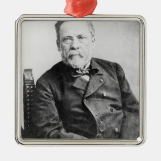 Louis Pasteur Quadratisches Silberfarbenes Ornament