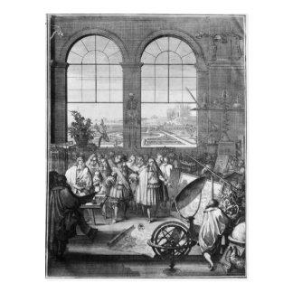 Louis XIV und sein Gefolge-Besuchen Postkarte