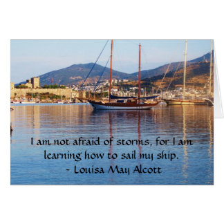 Louisa kann Alcott inspirierend ZITAT Karte