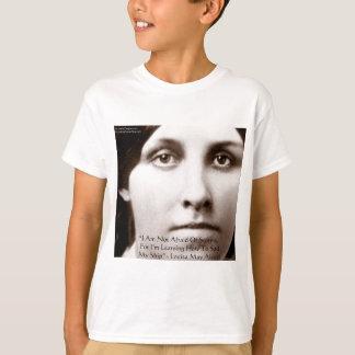 """Louisa kann Alcott """"lernend, Klugheits-Geschenke T-Shirt"""