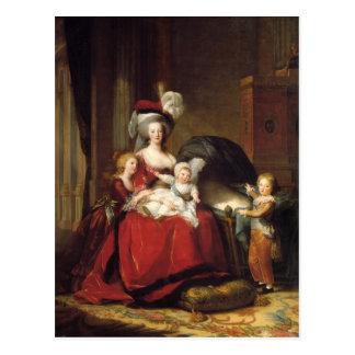 Louise Le Brun- Marie Antoinette und ihre Kinder Postkarte