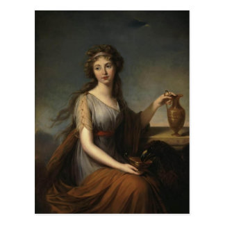 Louise Le Brun- Portrait von Anna Pitt Postkarte
