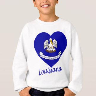 Louisiana-Flaggen-Herz Sweatshirt