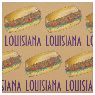 Louisiana-Garnele Po'Boy New Orleans Sandwich Stoff