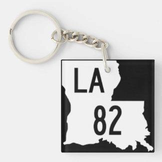 Louisiana-Landstraße 82 Keychain Schlüsselanhänger