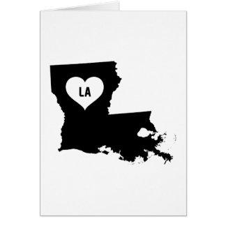 Louisiana-Liebe Karte