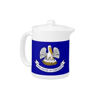 Louisiana-Staats-Flaggen-Teekanne