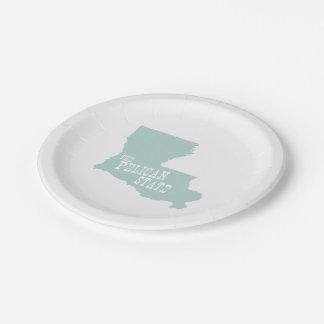 Louisiana-Staats-Spitzname-Pelikan-Staat Pappteller