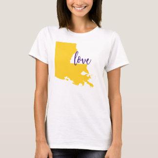 Louisiana-Staats-T-Stück HochschulLiebe LSU T-Shirt