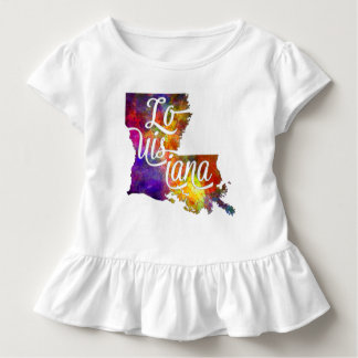 Louisiana US State im Watercolor text cut out Kleinkind T-shirt