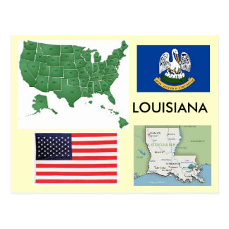 Louisiana, USA Postkarten