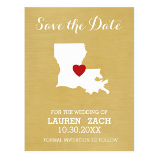 Louisiana-Zuhause-Staats-Karte - Save the Date Postkarte
