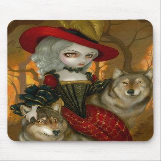 Loup-Garou: d'Automne gotische Wolf-Rokokos Mauspad
