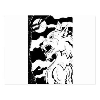 Loup Garou (Werewolf) Postkarte