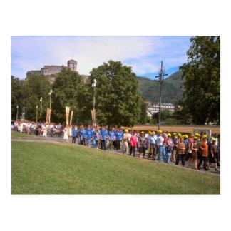 Lourdes, Prozession des Kranken, Postkarte