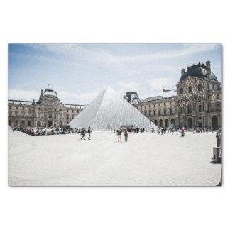 Louvre im weißen Winter Paris Seidenpapier