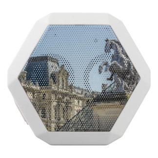 Louvre-Pferdestatue, Paris-Reise-Fotografie Weiße Bluetooth Lautsprecher