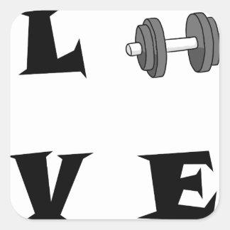 LOVE42 QUADRATISCHER AUFKLEBER