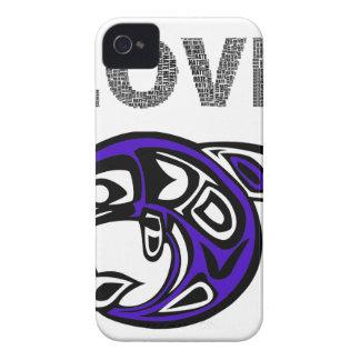Love fish blue iPhone 4 Case-Mate hülle