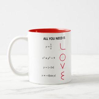 Love Formula Becher Zweifarbige Tasse